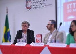 Na foto, presidenta do ittc fala em evento, a participação na fife acontecerá no dia 10 de abril